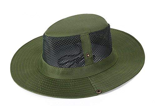 - SUNLAND Men's Fishing Hat Sun Hat Summer Hat Wide Brim Packable Bucket Safari Caps Fish Hat Olive Green