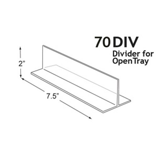 Count of 10 New Retails Clear Polystyrene Dividers 7.5 x 2