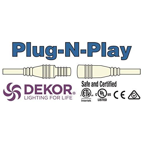 Outdoor LED Recessed Down Light Kit - 8 LED Lights - Hammered White by DEKOR (Image #7)