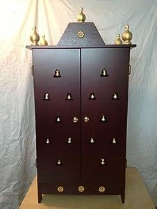 Amazon.com: Elegant Home Puja Mandir Cabinet with 3 stars 42 ...