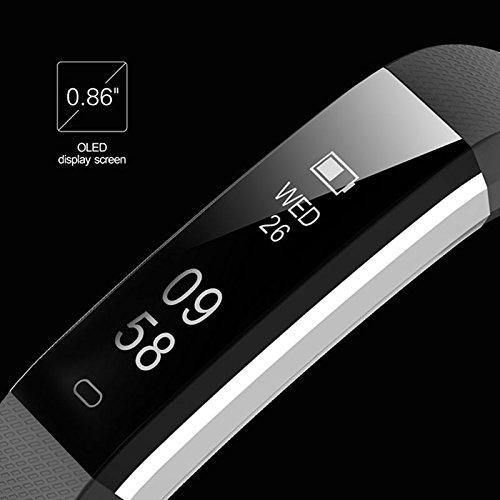 TOOGOO Rastreador de Fitness con Monitor de Ritmo cardiaco,Reloj Slim Sports Activity Tracker,Reloj podometro Impermeable con Monitor de sueno,Step Tracker ...