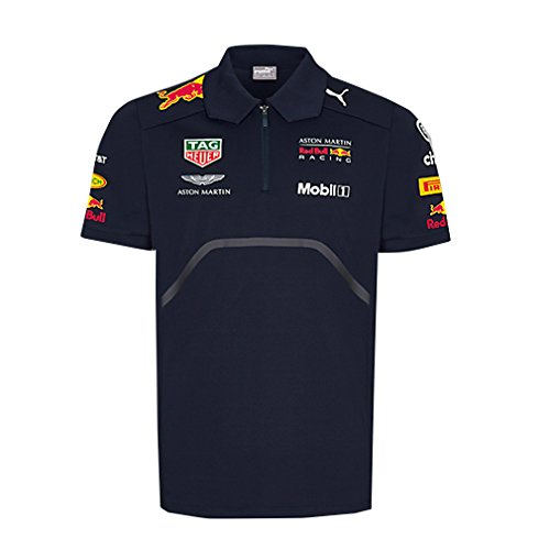 Red Bull Racing Formula 1 Aston Martin Kids 2018 Team Polo Shirt (5-6 Years)