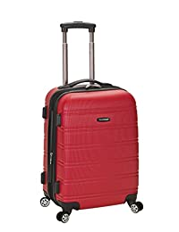 Rockland F145 Melbourne Expandable Abs Carry On Luggage, Red, One Size, 20-Inch