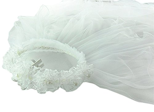 Ivory First Communion Veil - 8