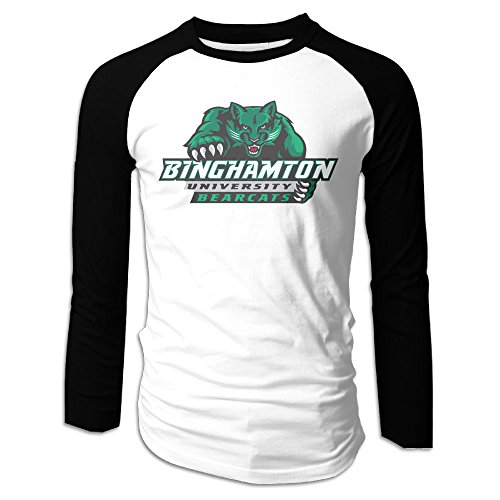 ACFUN Men's Custom Long Sleeve Raglan Binghamton University Suny T Shirt M