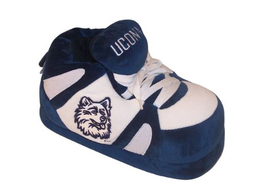 Connecticut Licensed Men's Happy Feet Slippers and Huskies NCAA College Womens Sneaker Officially vqwFX