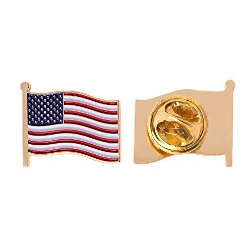 United States of America USA Country Flag Lapel Pin Enamel Made of Metal Souvenir Hat Men Women Patriotic American (Waving Flag Lapel Pin)