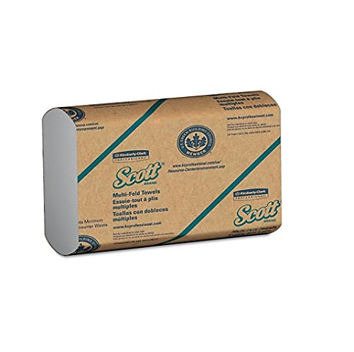 Scott Multifold Paper Towels (01804) with Fast-Drying Absorbency Pockets, White, 16 Packs / Case, 250 Multifold Towels / Pack (.1 CASE) (Hand Scott Multifold Towels)