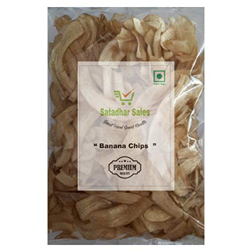 Satadhar sales surat special tasty Long Banana Chips 500 gm pack (17.63 Oz)