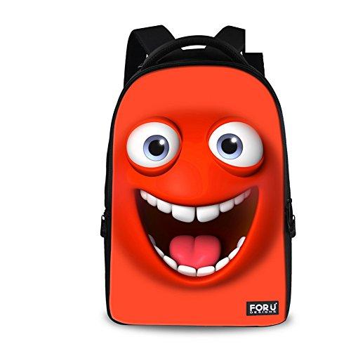 FOR U DESIGNS Stylish Emoji Backpack for Kids Cool Expression Book Bag Schoolbag