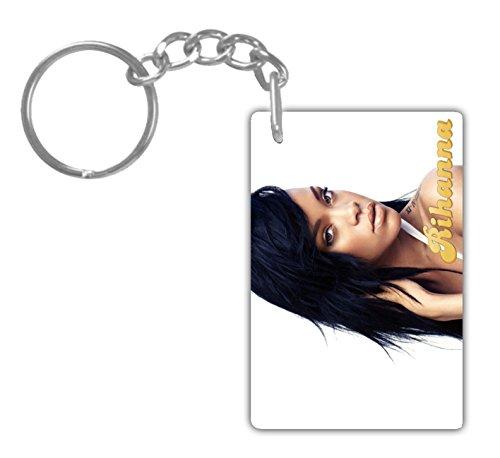 RIHANNA#3 Aluminum Rectangle plate Keychain (1-Sided) Includes key - Rihanna Chains