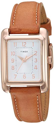 Timex Women's TW2R89500 Meriden Tan/Rose Gold-Tone Leather Strap Watch