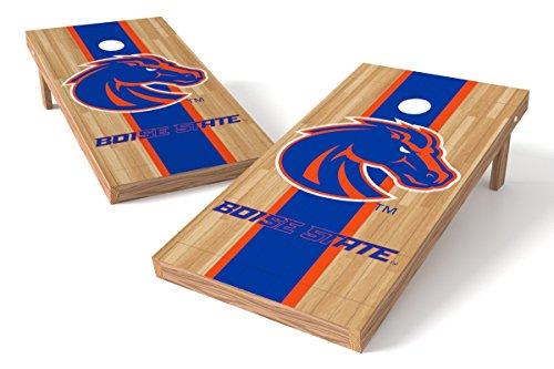 - Wild Sports NCAA College Boise State Broncos 2' x 4' Hardwood Authentic Cornhole Game Set