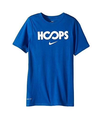 NIKE Boys' Dry Just Hoops Graphic Basketball T-Shirt - Bluejay/White, (Nike T-shirts Basketball)