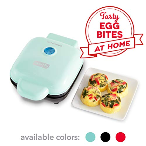 Dash DBBM450GBAQ08 Deluxe Sous Vide Style Egg Bite Maker with Silicone Molds for Breakfast Sandwiches, Healthy Snacks or Desserts, Keto & Paleo Friendly, (1 large, 4 mini), Aqua