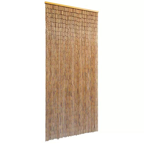 Tidyard Bamboo Door Curtain Natural Door Way Doorway Room Divider with 90 Strands as Room Decor for Apartments, Bars Patios Balconies 35.4
