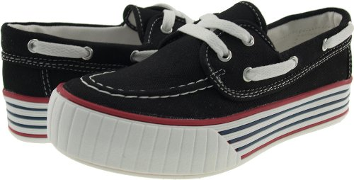 Canvas On Slip Maxstar Boat Black C30 Platform Women's Loafers Iqx4HZF