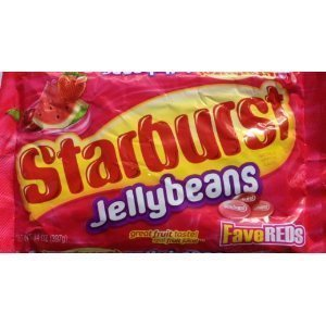Starburst Fave Reds Jelly Beans, 14-ounce Bag (Pack - Red Bean Jelly