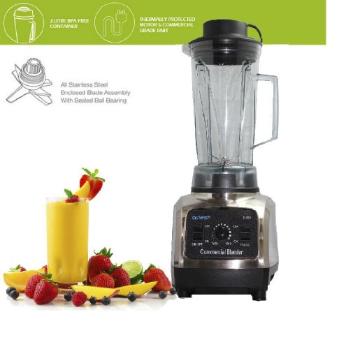 Dr Tech 3hp High-performance Commercial Electronic Blender Bl-500 Personal Multi-function Mixer , Black and Silver, Power Elite, with Stainless Steel Blade Health Care Nature Fruit