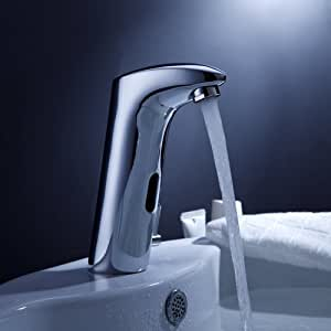 Abc800 brass bathroom sink faucet with automatic sensor touch on bathroom sink faucets for Automatic bathroom sink faucets
