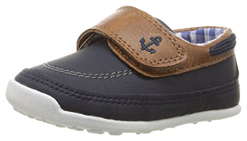 Carter's Every Step Stage 3 Boy's Walking Shoe, Finn, Navy/Brown, 5 M US Toddler