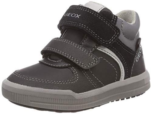 Geox J Arzach Boy B, Boys' Hi-Top Trainers Hi-Top Trainers, (Black/Dk Grey C0005), 8.5 UK (26 EU) ()