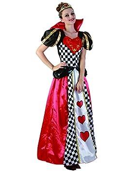Funtastik - Disfraz de Reina de Corazones para mujer