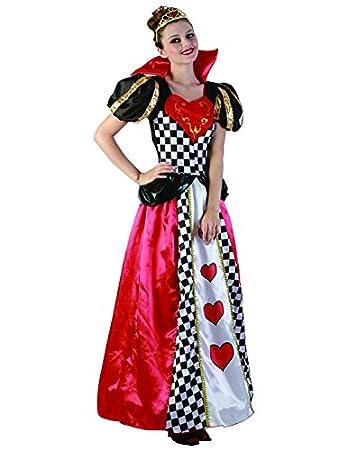 Funtastik - Disfraz de Reina de Corazones para mujer: Amazon.es ...