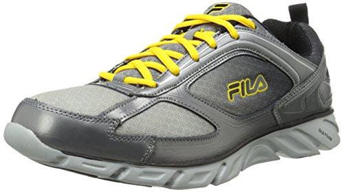 Fila Mens Stride 3 Running Shoe Metallic Silver/Pewter/Lemon BeYCw