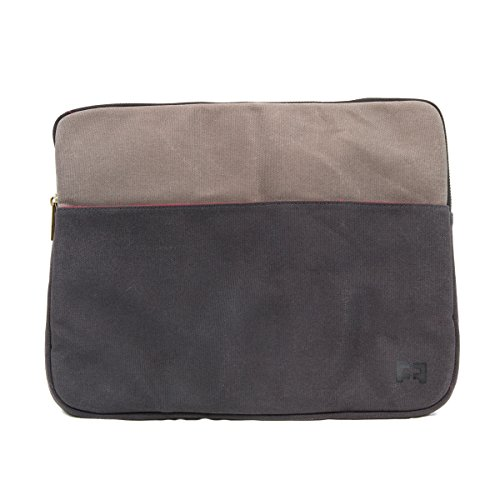 Waxed Cotton Canvas Padded Tablet/Laptop Sleeve for 13