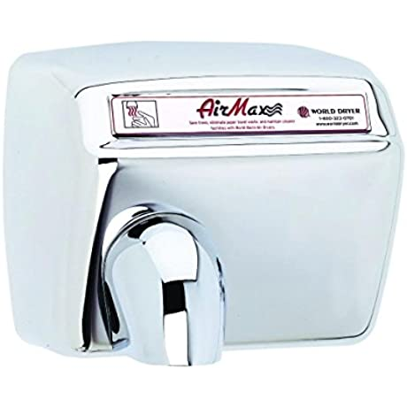 World Dryer DXM5 972 AirMax High Speed And Heavy Duty Hand Dryers Automatic 110 120V Stainless Steel Polished