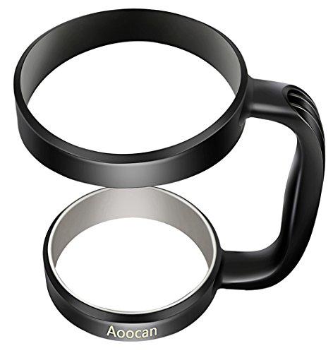Aoocan Handle for Yeti Rambler 30 oz Tumblers, Rtic, Sic Cup Ozark Trail and more Tumbler mug (Black)