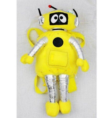 Plush Backpack - Yo Gabba Gabba - Plex (Yellow) Soft Doll]()