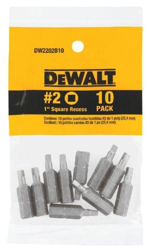 DEWALT DW2202B10 Square Recess 10 Pack
