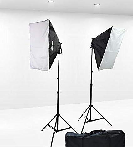 1600 Watt Softbox Lighting Kit Video Lighting Kit Two Softbox, 8 x 45watt  Flourescent Bulb, 2 x lightstand by Fancierstudio 9004S