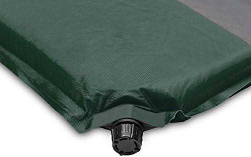 Yukatana Goodsleep 7 Colchoneta Aislante autohinchable 7 cm de Grosor, 63 x 7 x 198, Esterilla Auto Inflable, Espuma tafet/án, colch/ón Camping, desplegable, coj/ín, Bolsa Transporte, Verde//Gris