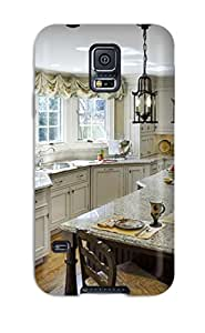 New Arrival Galaxy S5 Case Traditional Kitchen With Expansive Island And Old-world Pendant Lighting Case Cover