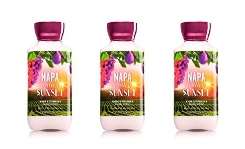 Victoria Cellars (Bath & Body Works Napa Valley Sunset Lotion 8oz - Lot of 3)