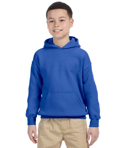 Hoodie 2008 Kids - Gildan boys Heavy Blend Hooded Sweatshirt(G185B)-ROYAL-M