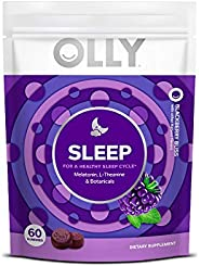 Olly Melatonin Gummy All Natural Flavor and Colors with L Theanine Chamomile and Lemon Balm 3 mg per serving 3
