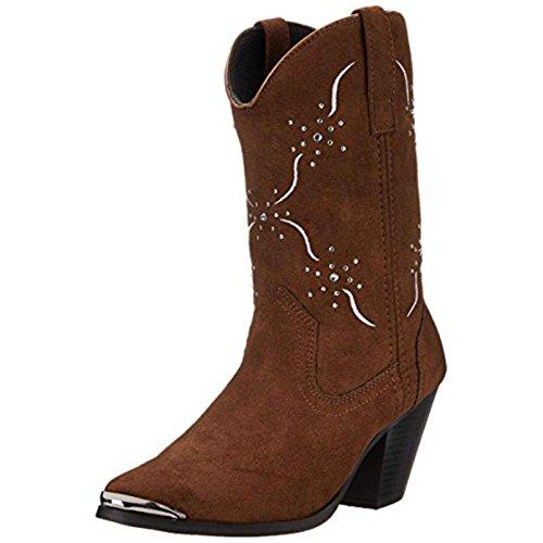 Dingo Women's Sonnet Western Boot, Chocolate, 6 M US