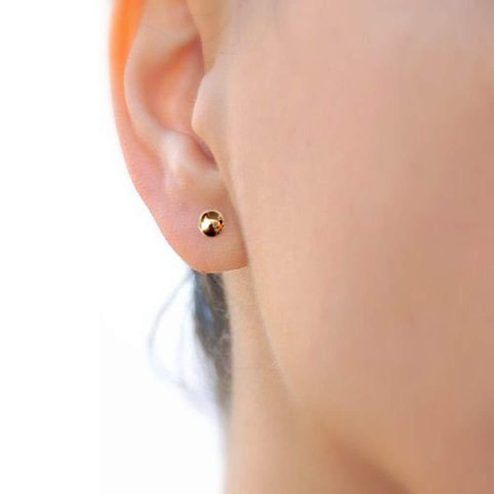 14K Yellow Gold Ball Stud Earrings
