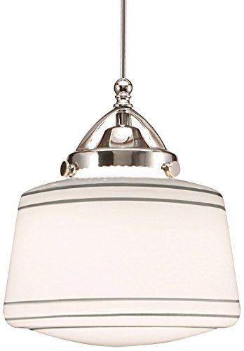 WAC Lighting QP-LED494-SL/CH Plymouth Quick Connect LEDme Pendant with Silver Shade and Chrome Socket Set