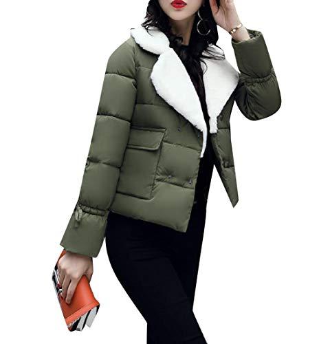 Cotone Mogogowomen Colletto Breve Avvolgere Del Giro Del Esercito Verde Piumino Outwear Caldo Cappotto ttqar1wU