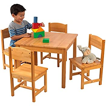 Amazon.com: KidKraft Rectangle Table and 2 Chair Set - Espresso ...