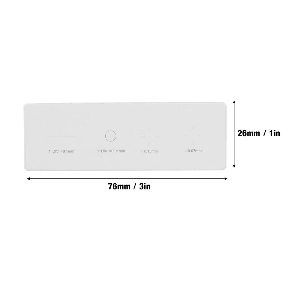 Nitrip Microscope Objective Micrometer Calibration Slide Glass Stage Micrometer DIV 0.01mm