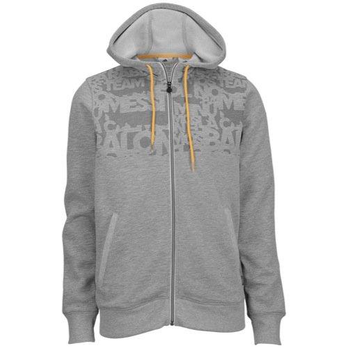 adidas Messi Full Zip Hooded Sweat Jacket Grey (M) (Barcelona Full Zip Jacket)