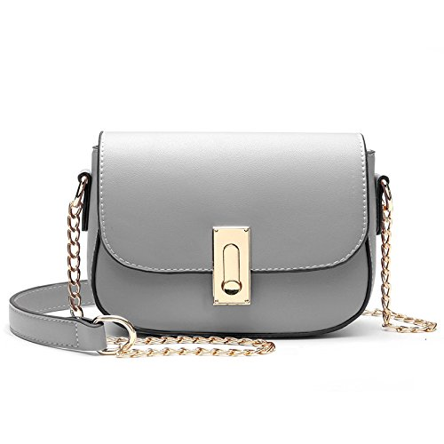 Ome & Qiumei Small Bag Woman Bag Messenger Bag String Bag, Ash (22 * 12 * 7cm) Ash (22 * 12 * 7cm)