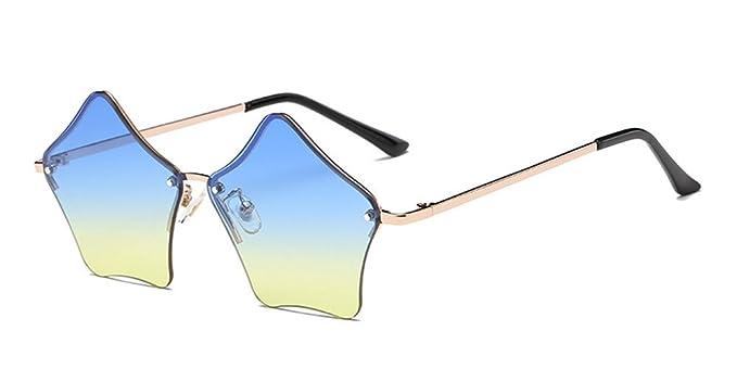 8a19deb82fff9a KINDOYO Mignon UV 400 Femmes Étoiles Forme Rétro Coloré lunettes de soleil