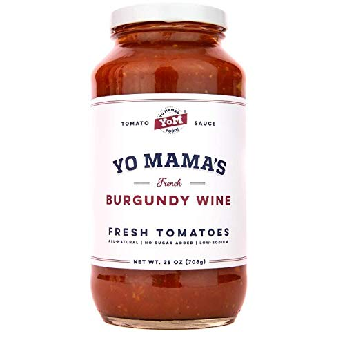 Gourmet Burgundy Wine Pasta Sauce - (1) 25 oz Jar - Keto Certified, No Sugar Added, Gluten Free, Preservative Free, Paleo Friendly, and Made with Whole, Non-GMO Tomatoes!
